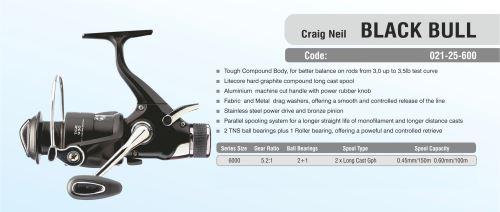 CRAIG NEIL BLACK BULL RUNNER 2+1BB 2 GRAPH. SPOOLS
