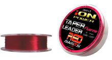 FLUORINE RED TAPER LEADERS 15m x 5 leaders 10 spools pack